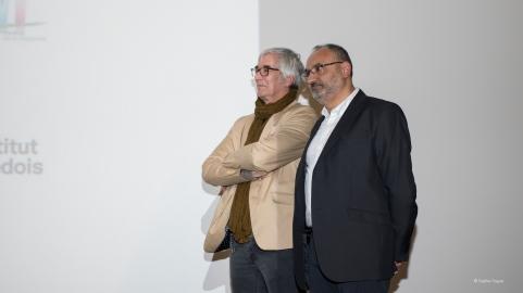 Yannick Lemarié, président d'Atmosphères 53, et Imad Makhzoum, directeur.
