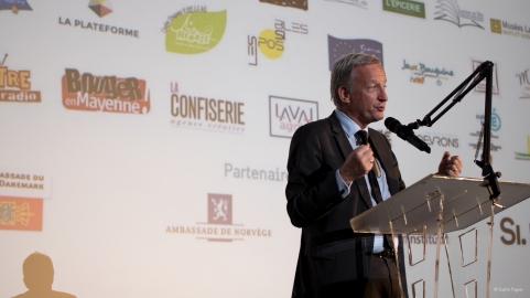 Olivier Richefou, président du conseil départemental de la Mayenne.
